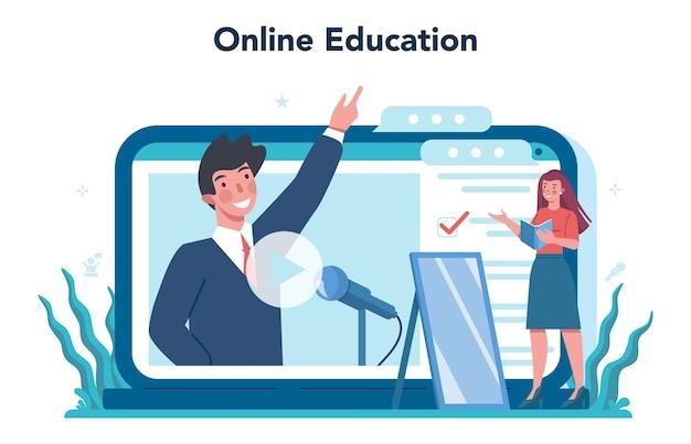 Rhetoric or elocution specialist online service or platform.