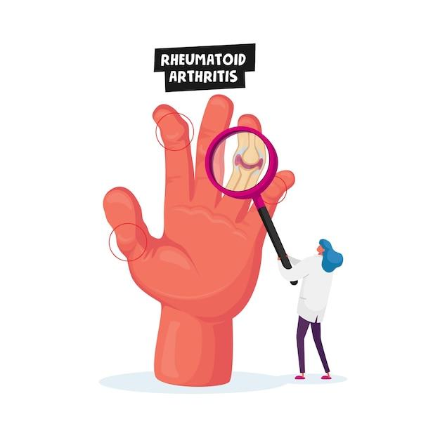 Rheumatoid arthritis healthcare concept