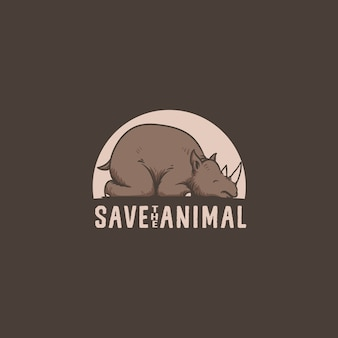 Rhino animal logo illustrationを保存する