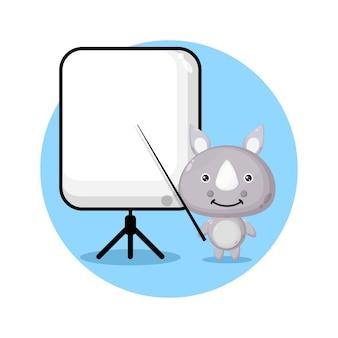 Носорог становится учителем милого персонажа