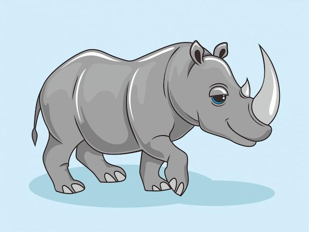 Rhino cartoon cute rhinoceros