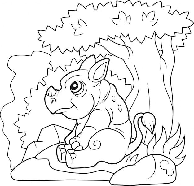 코뿔소 색칠하기 책