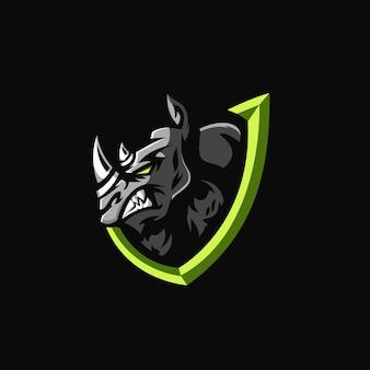 Rhino e-sports team logo template