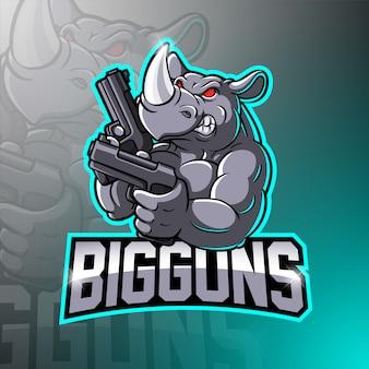 Rhino esport талисман логотип
