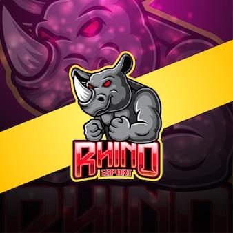 Rhino esportマスコットロゴ