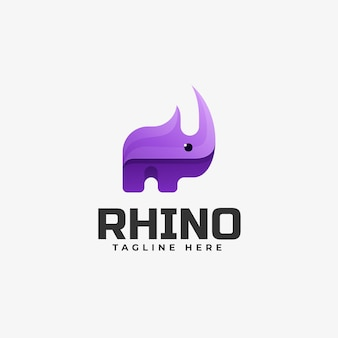 Rhino gradient colorful style logo template