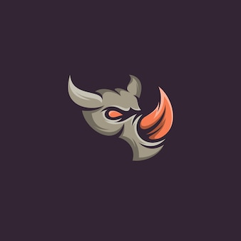 Rhino head design vector