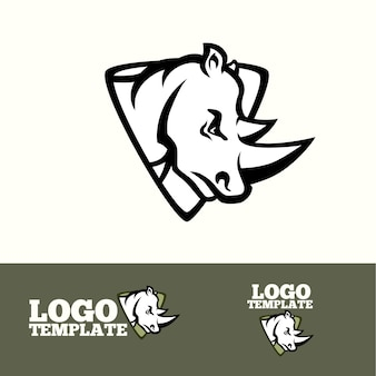 Rhino logo concept for sport teams, brands etc.