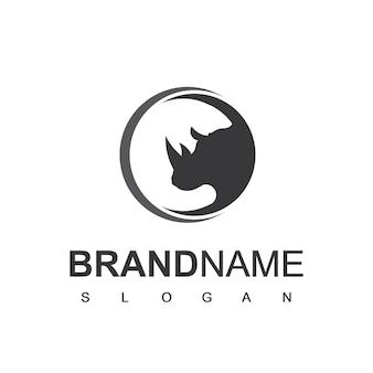 Шаблон дизайна логотипа rhino