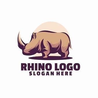 Носорог логотип шаблон