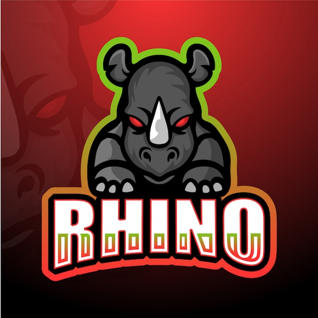 Rhino mascot esport illustration