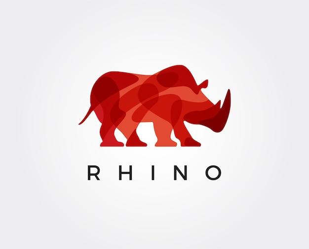 Rhino shield security logo template