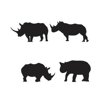 Rhinoシルエットrhinocerosシンボルセット