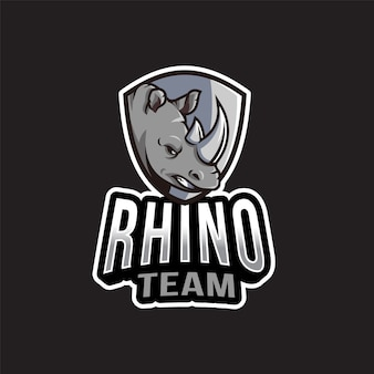 Rhino team logo template
