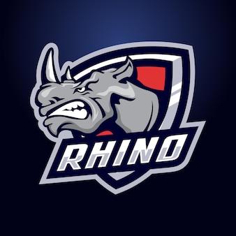 Rhinoのマスコットのロゴ