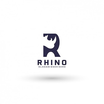 Rhinoceros logo template
