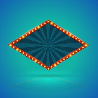Rhombohedronレトロなバナー。