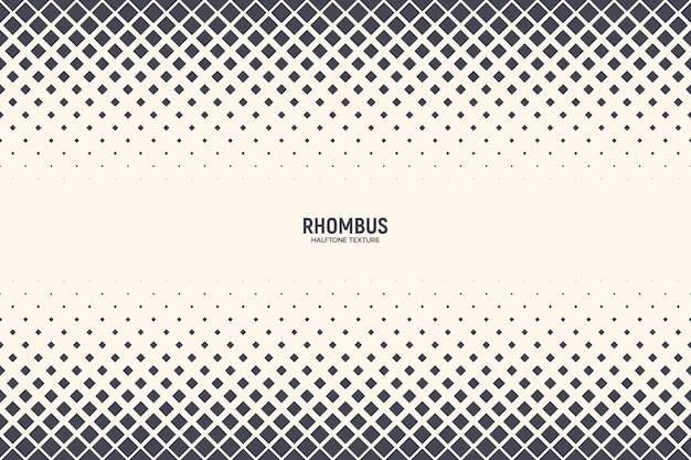 Rhomboid shapes abstract halftone pattern background