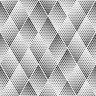마름모 기하학적 하프 톤 텍스처 원활한 패턴 프리미엄 벡터