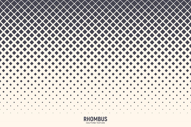 Rhombus halftone abstract geometric texture background