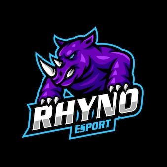 Rhynoマスコットロゴeスポーツゲーム