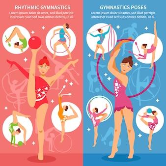 Rhythmic gymnastics vertical banners