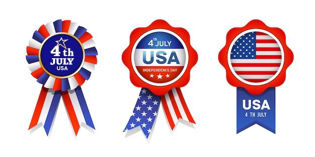 미국, 컬렉션의 리본 상 플래그
