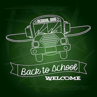Ribbon back to school welcome
