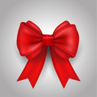 Ribbon bow vector illustration for love and card.