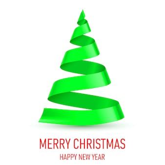 リボンのクリスマスツリー。