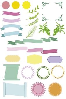 Коллекция дизайна ленты