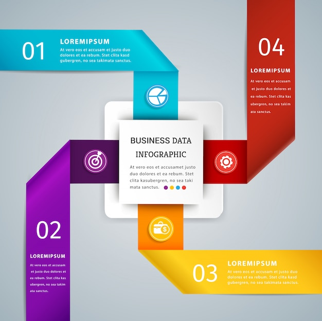 Ribbon infographic