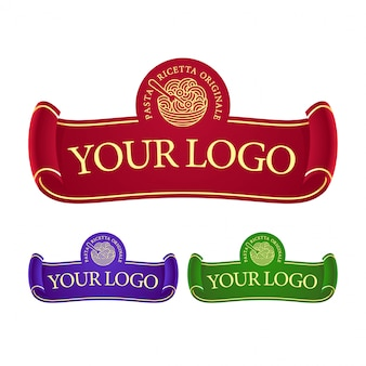 Ribbon logotype template