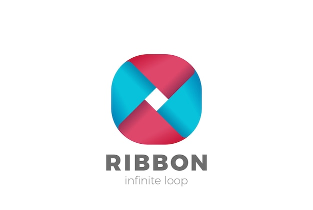 Ribbon square logo.