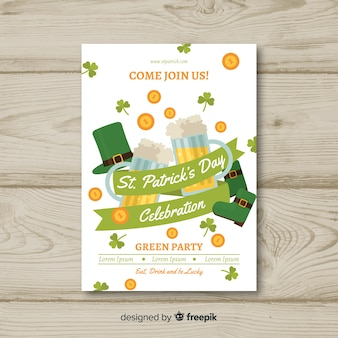 Ribbon st patrick's day party poster