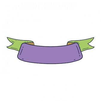 Ribbon tape frame icon