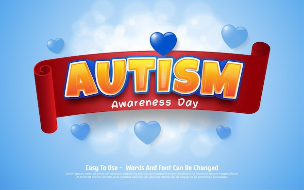 Ribbon of world autism day