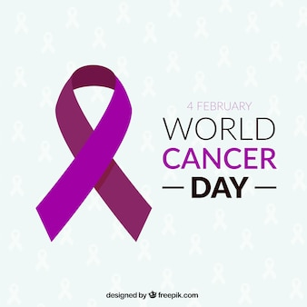 Ribbon for world cancer day