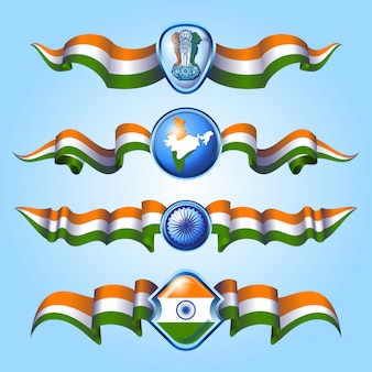 Ribbons of india flag