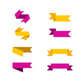 Ленты теги коллекции набор вектор