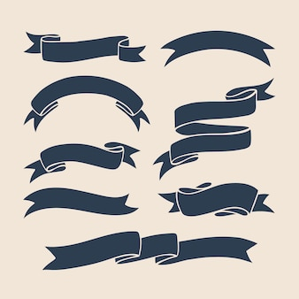 Ribbons vector collection