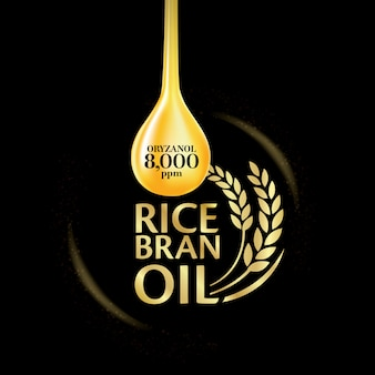 Rice bran oil illustration.
