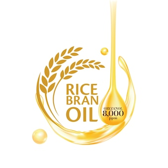 Rice bran oil with informative details
