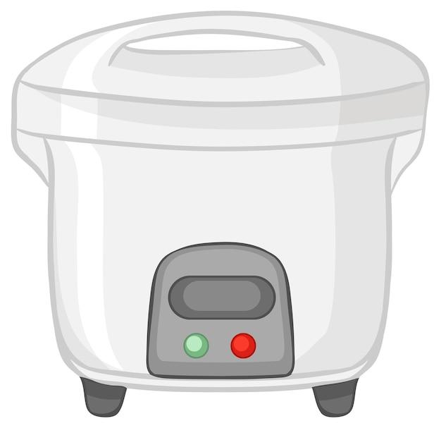 白い背景で隔離炊飯器