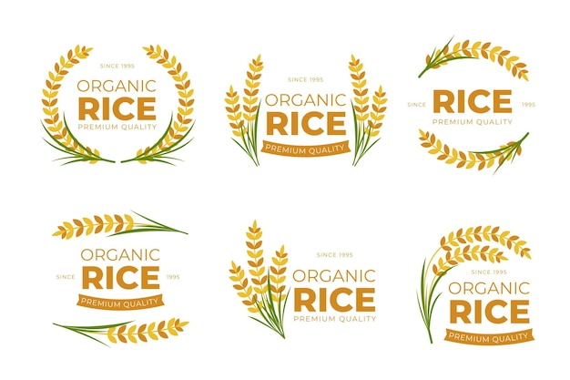 Rice logo collection