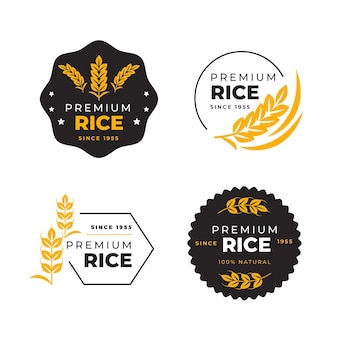 Rice logo set template