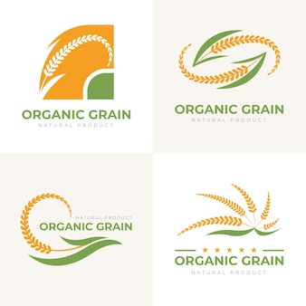 Rice logo template set