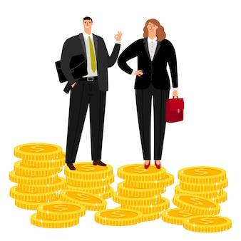 Rich businessman couple