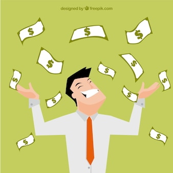 Rich businessman illustration