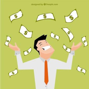 Rich businessman illustration